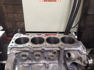 Nissan SR20 Darton Sleeves - step decked - helps the gasket seal under heavy load in a high rpm naturally aspirated combo with 4 throttle bodies.